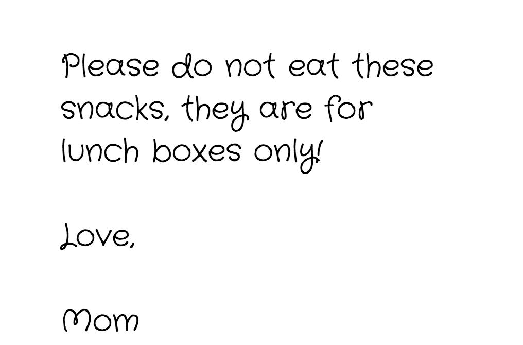 snacks lunchbox