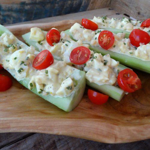 Cucumber Egg Boats 1