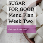 Week 2 Break Sugar Addiction Menu Plan 8