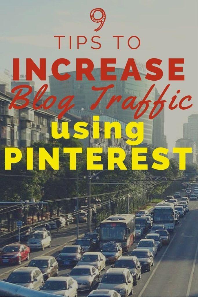 9 tips blog traffic PINTEREST image