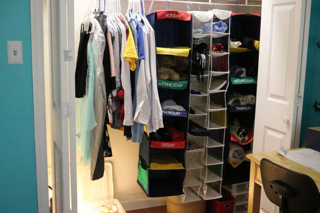 My teenage daughter's closet AFTER she implemented the KonMari method of tidying