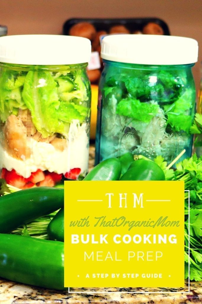 THM bulk cooking meal prep with ThatOrganicMom