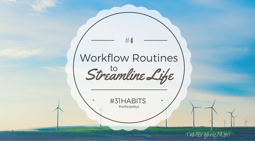 Habit #4 Workflow Routines to streamline your life