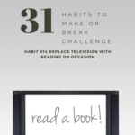 Habit #14 Replace television with reading on occasion 1