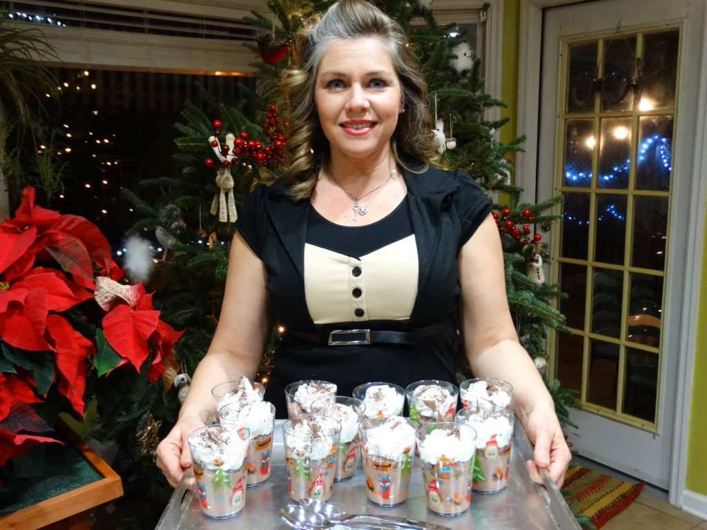 Boozy Chocolate Pudding Christmas Girls Night 2015