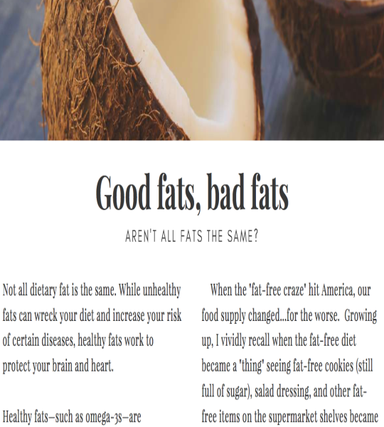 Step 8 Replace Unhealthy Fats with Healthy Fats 1