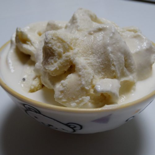 My kids favorite homemade ice cream - sweetened with maple syrup 2