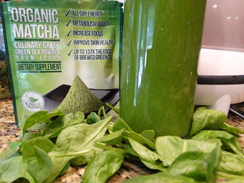 Matcha Kiwi Cucumber Spinach Juice 2