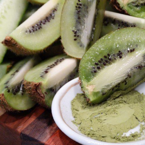 Matcha Kiwi Cucumber Spinach Juice