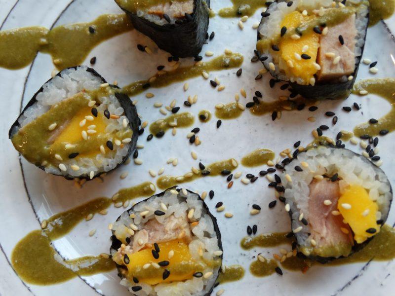 Matcha Tahini Mango Tuna Sushi 11