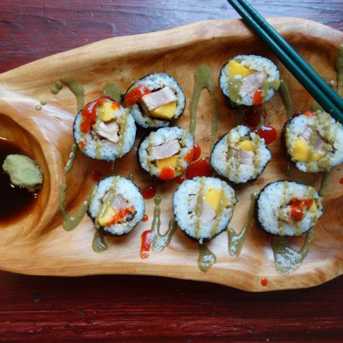 Matcha Tahini Mango Tuna Sushi 5