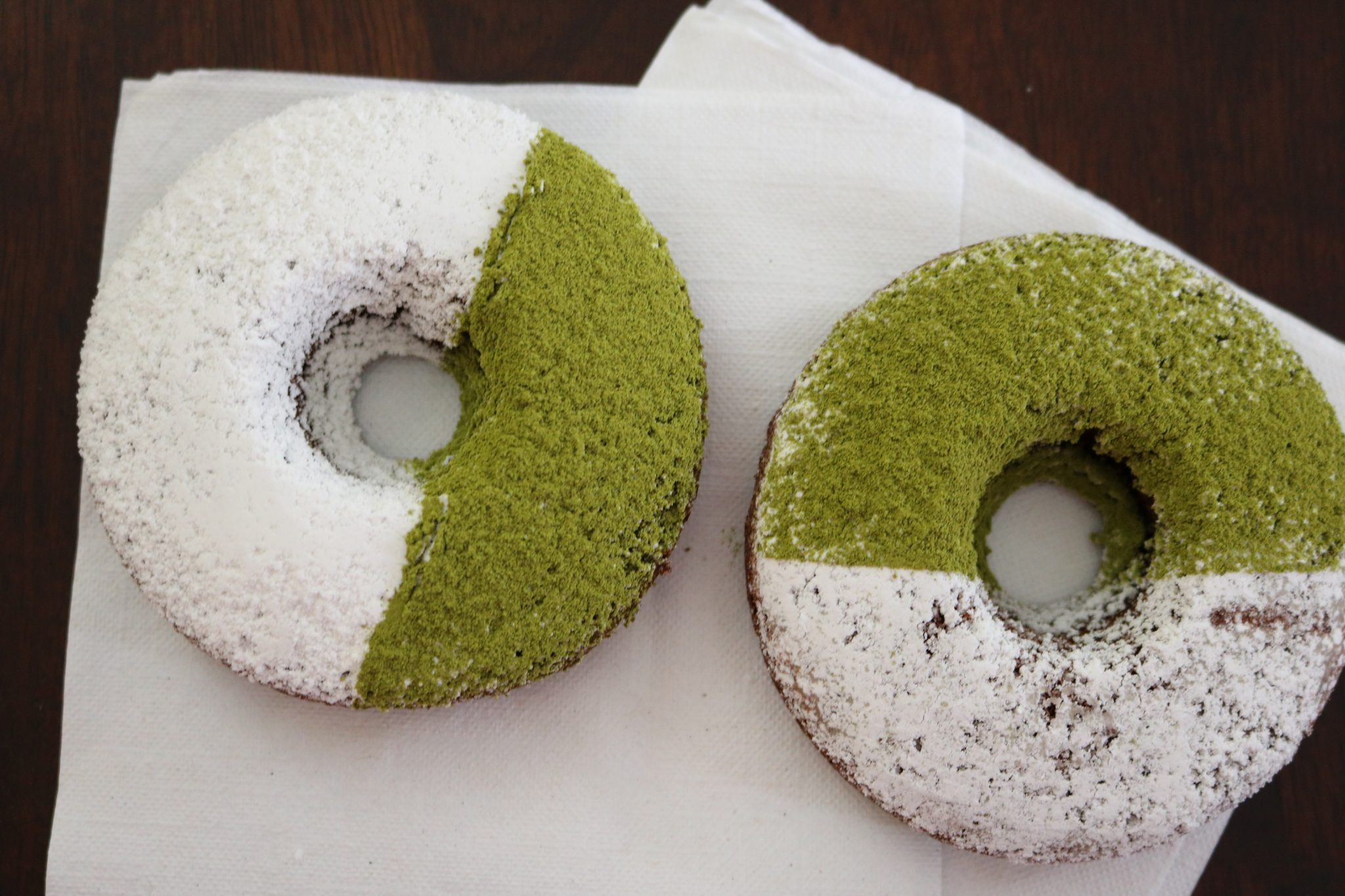two low carb gluten-free matcha donut recipes