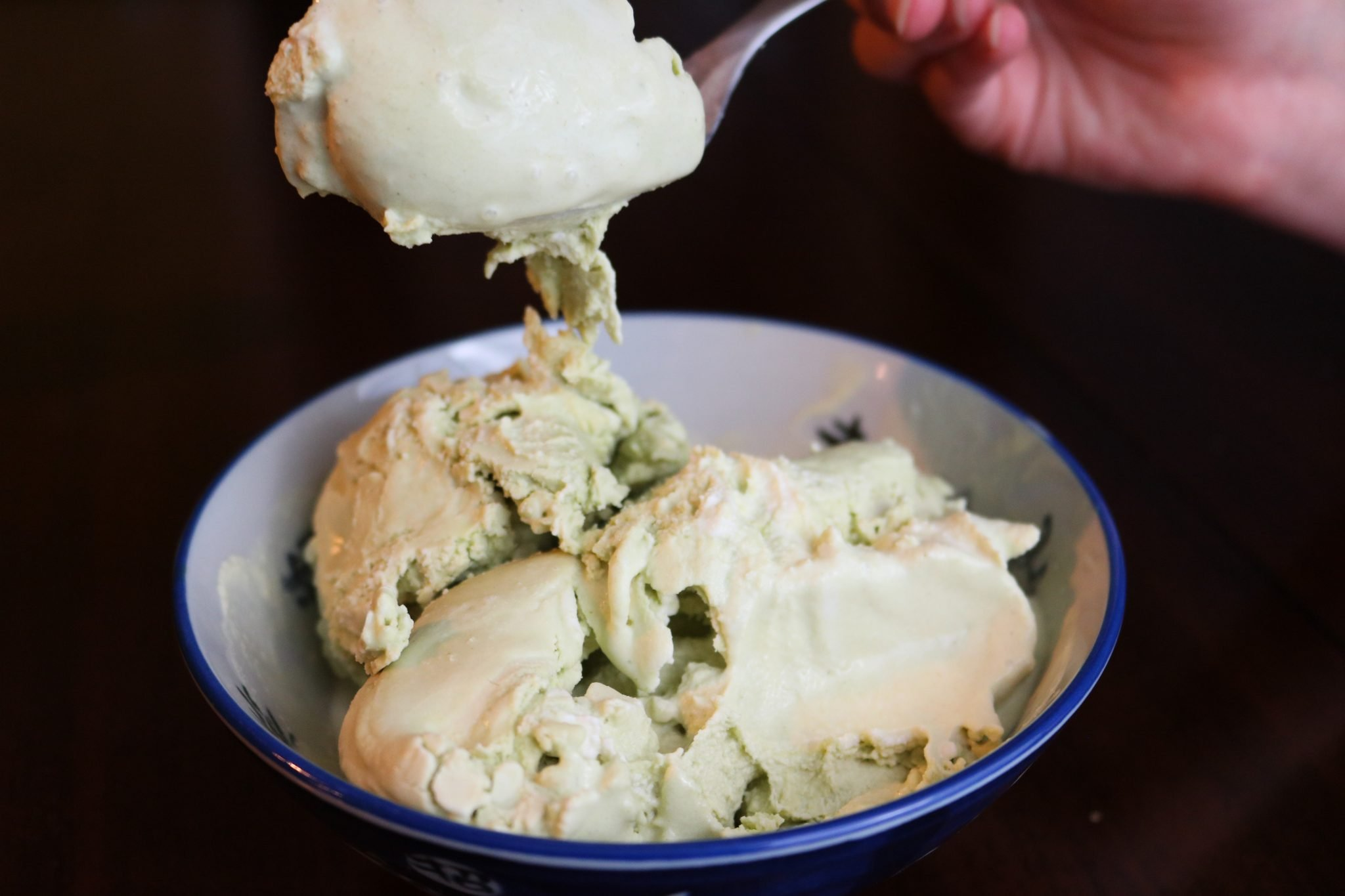 Matcha Ice Cream Recipe - refined sugar free. Plus a low carb option! 4