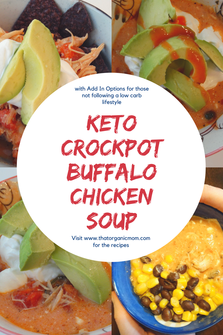 Keto Crockpot Buffalo Chicken Soup - Low Carb with Options for Kids