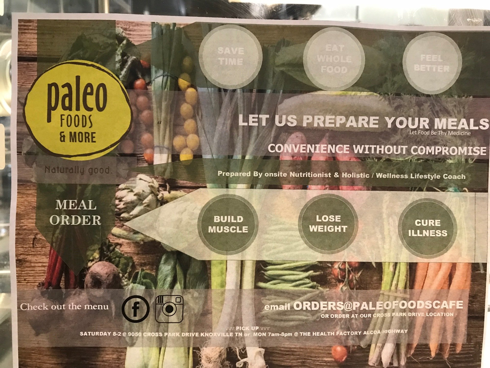 Paleo Foods Café and More - our local, organic option for eating out! 1