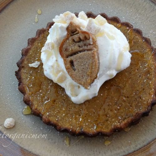 Pumpkin Tarts with Gingerbread Cookie Crust  - Low Carb, Sugar Free, Gluten Free 1