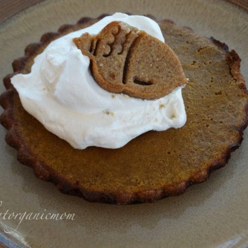 Pumpkin Tarts with Gingerbread Cookie Crust  - Low Carb, Sugar Free, Gluten Free 2