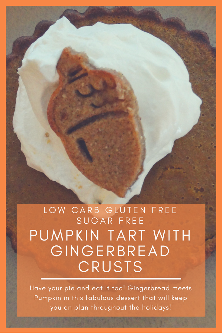 Pumpkin Tarts with Gingerbread Cookie Crust  - Low Carb, Sugar Free, Gluten Free 5