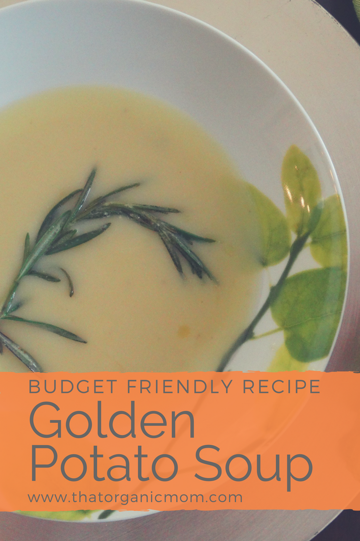 Golden Potato Soup with Fried Rosemary 1