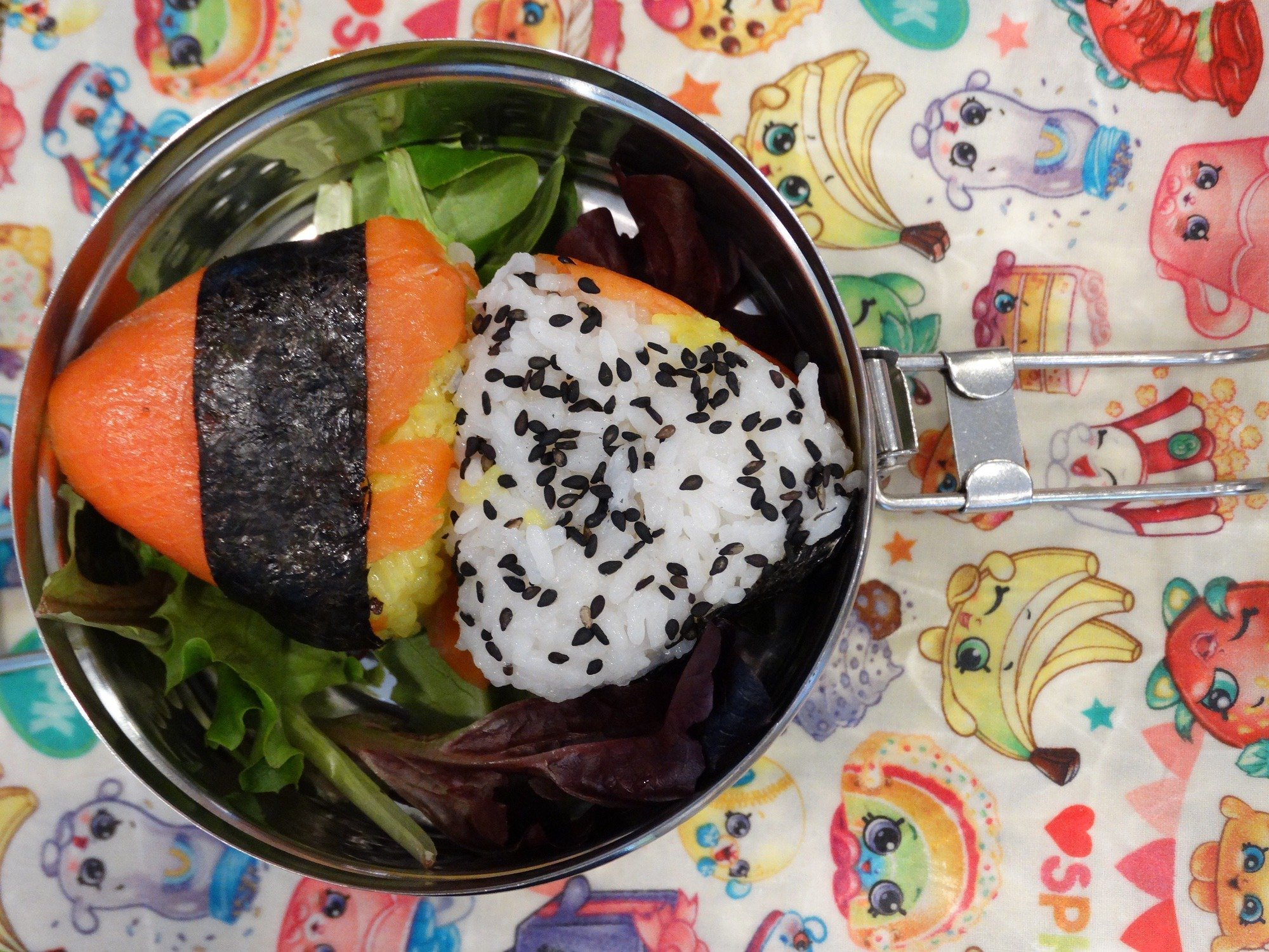 Smoked Salmon BBQ Onigiri - A fun party food 17
