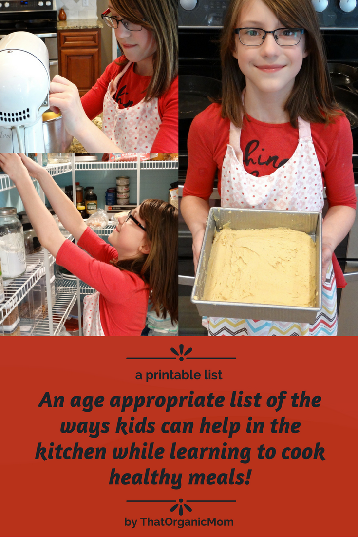 What kids can do to help in the kitchen - an age appropriate list