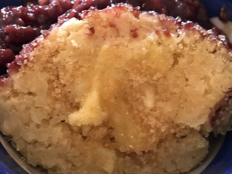Berry Crumble with Cake Clouds 1