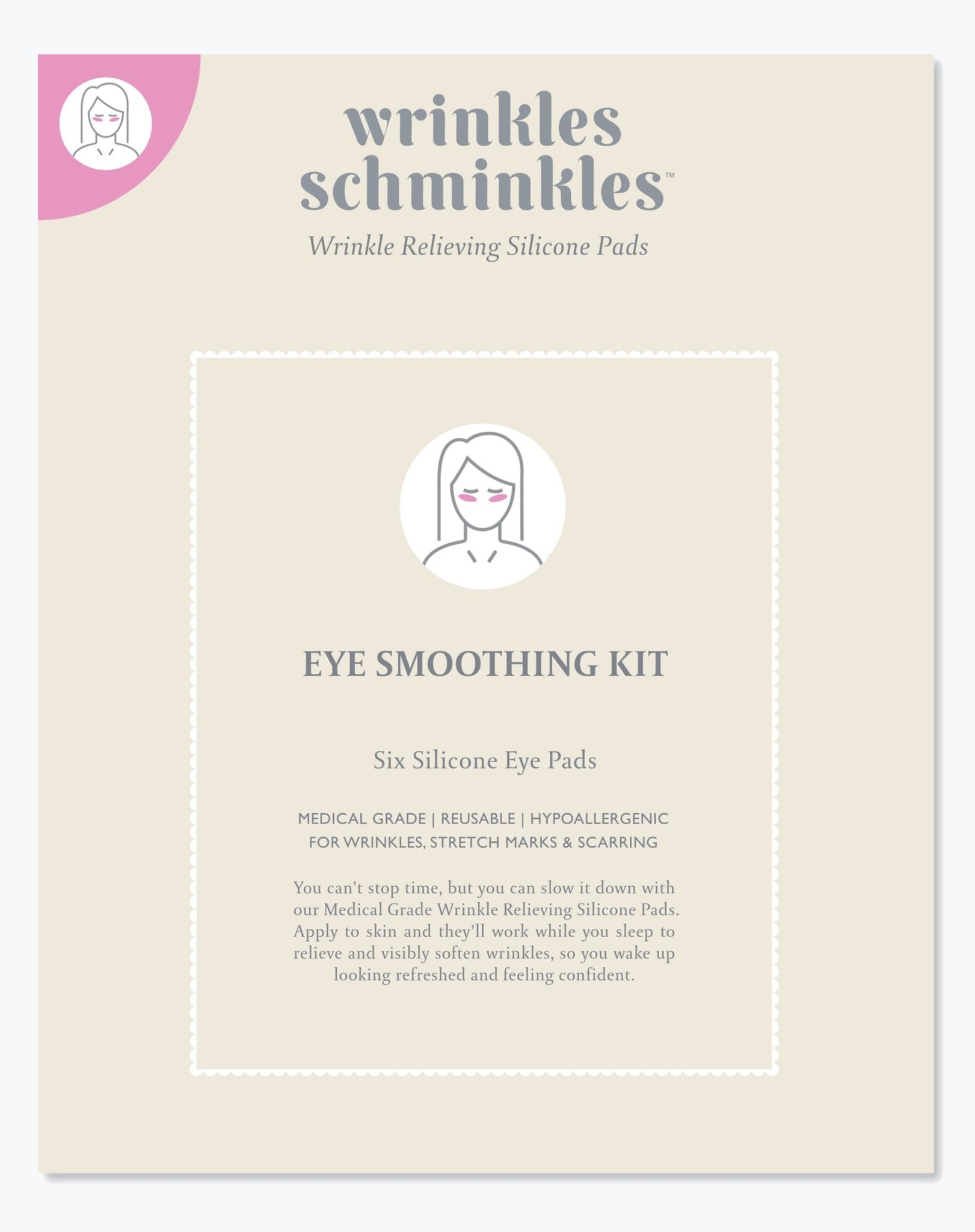 Eye Smoothing Kit - Six Silicone Eye Pads - Wrinkle Schminkle 8