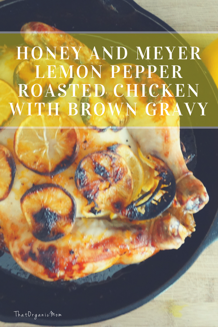 Honey and Meyer Lemon Pepper Roasted Chicken with Brown Gravy 7