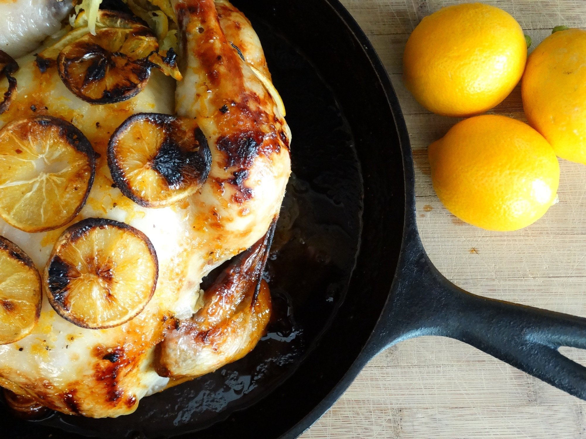 Honey and Meyer Lemon Pepper Roasted Chicken with Brown Gravy 8