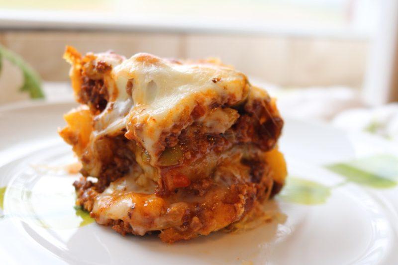 Golden Lasagna: A Twist on Pastelón (Sweet Plantain Lasagna)