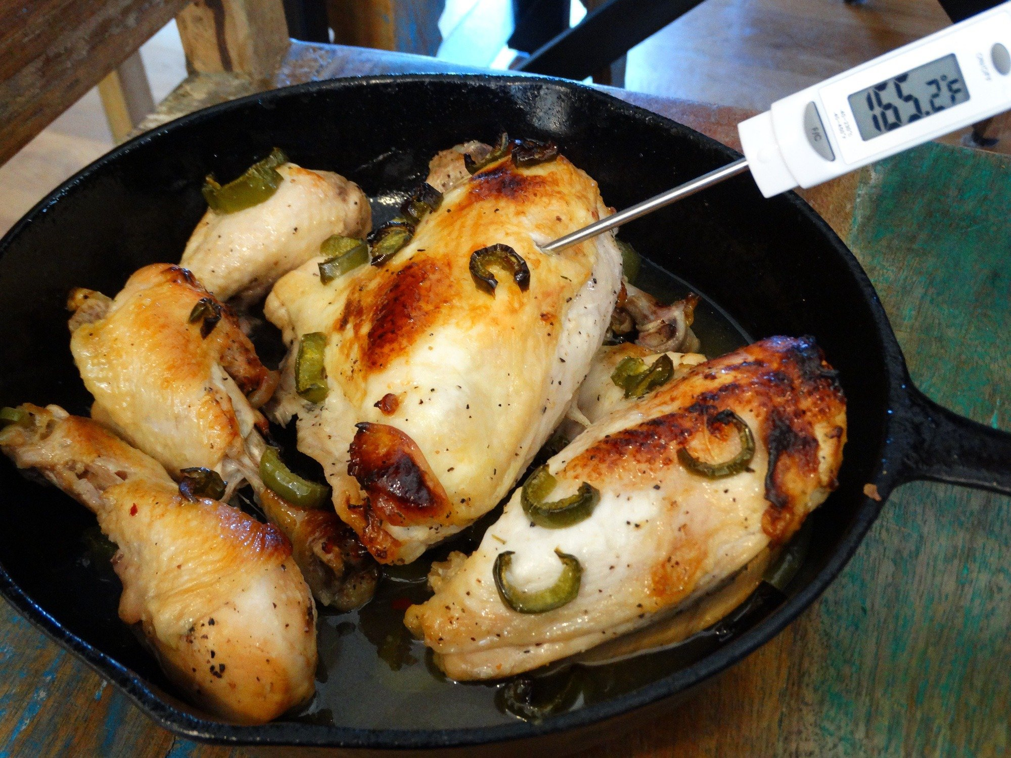Caribbean Chicken Recipe - Use A Meat thermometer! 4