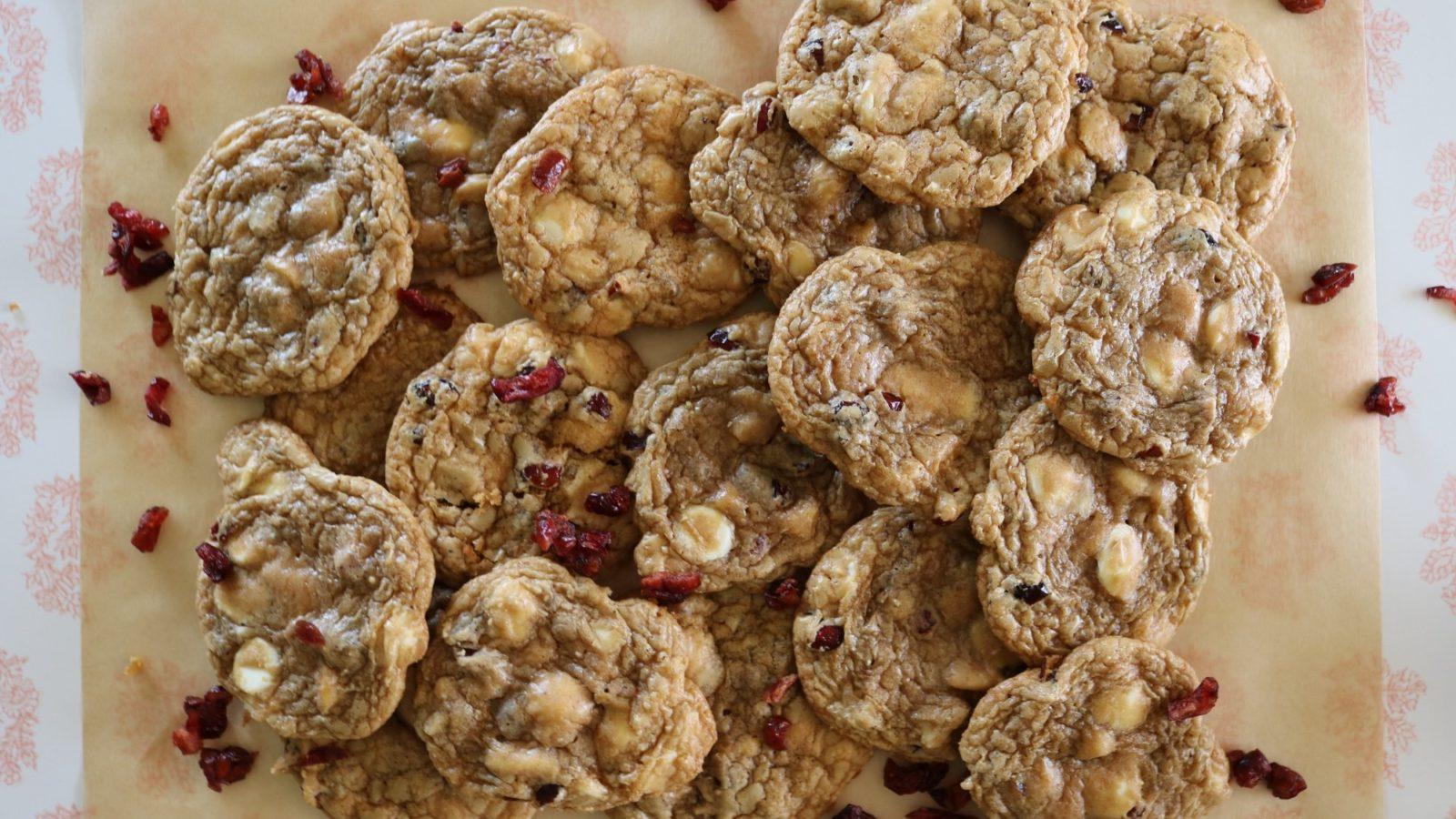 Cranberry, White Chocolate Chip and Macadamia Cookie Recipe 2