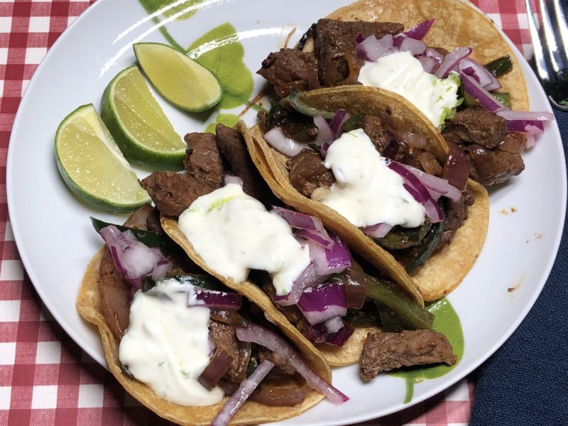 Chile Lime Steak Fajitas 8