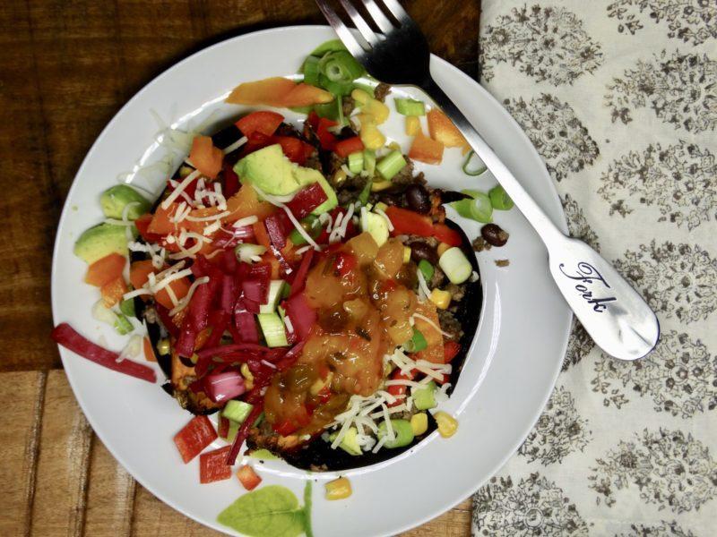 Eat the Rainbow Loaded Sweet Potatoes