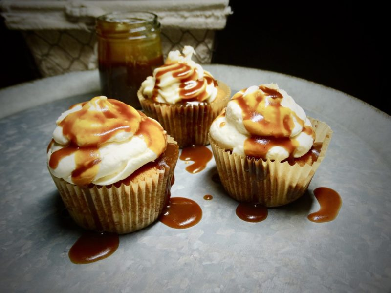 Low-Carb Healthy Salted Caramel Cupcakes 5
