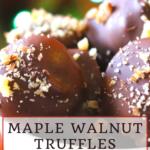Sugar-Free Maple Walnut Truffles 11