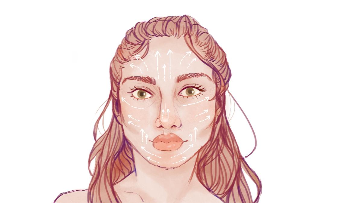 Natural Beauty Jade Roller Facial Chart