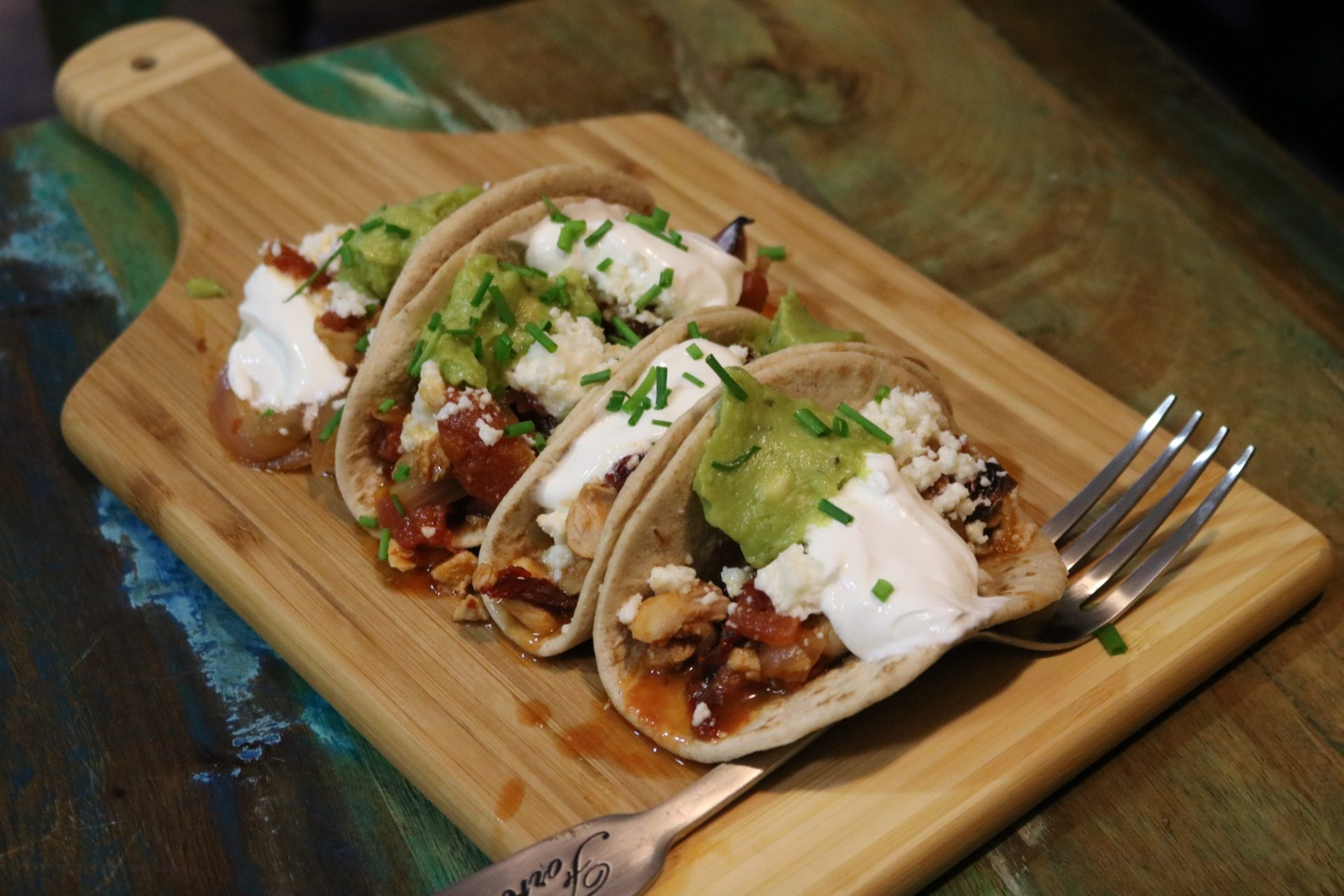 Spicy Chicken Tinga Tacos With Guacamole and Queso Fresco - Low Carb 1