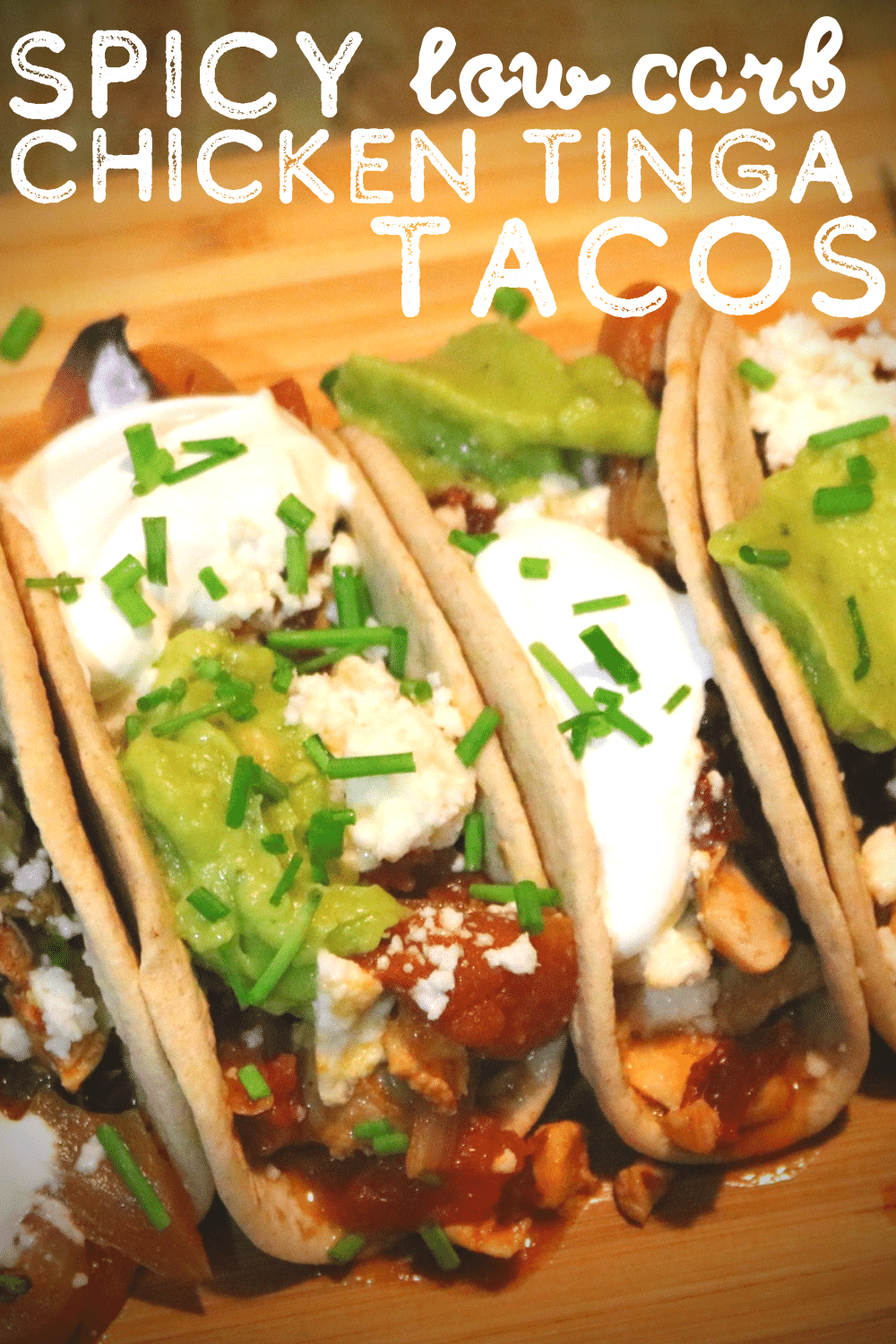 Spicy Chicken Tinga Tacos With Guacamole and Queso Fresco - Low Carb 2