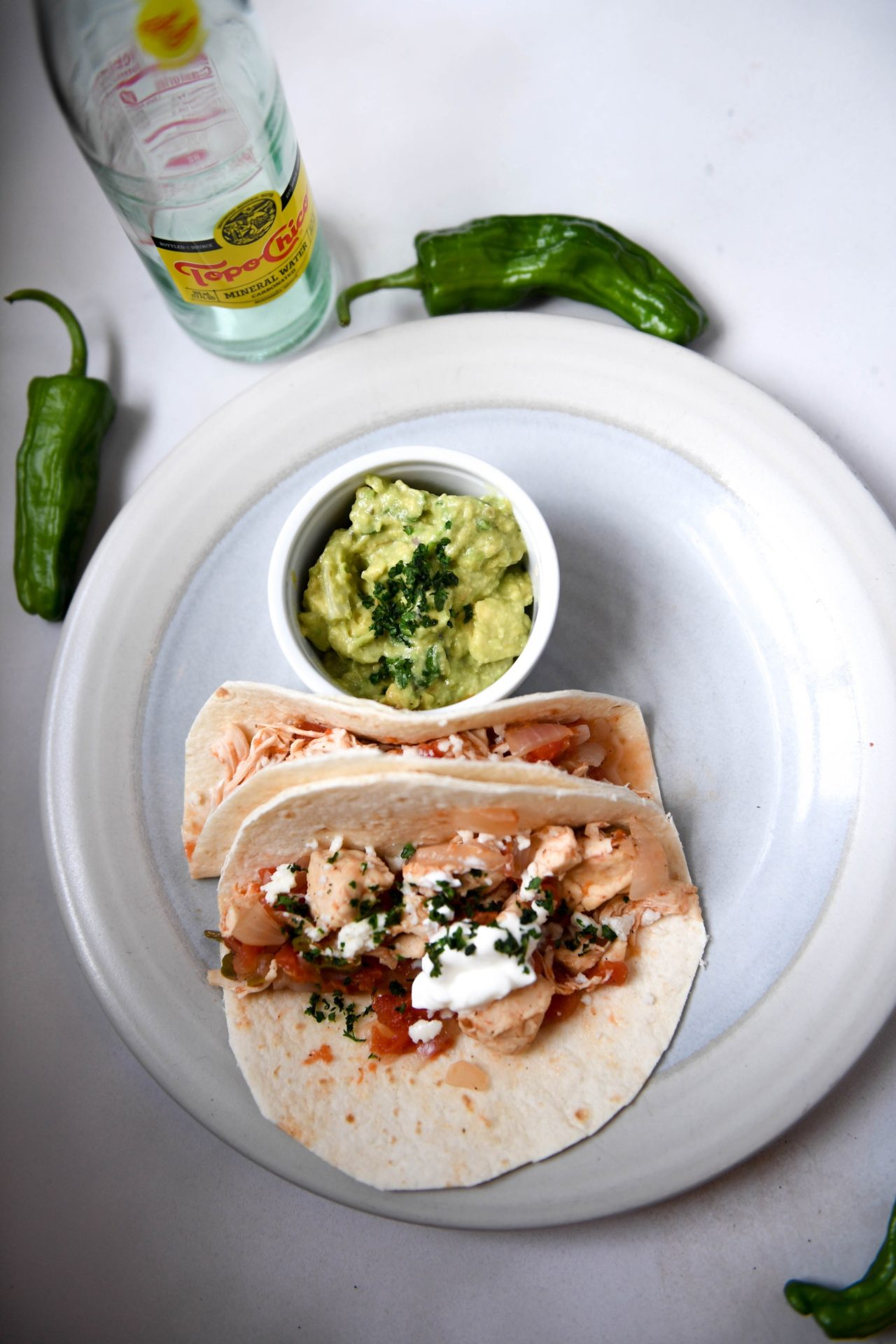 Spicy Chicken Tinga Tacos With Guacamole and Queso Fresco - Low Carb 5