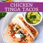 Spicy Chicken Tinga Tacos With Guacamole and Queso Fresco - Low Carb 8