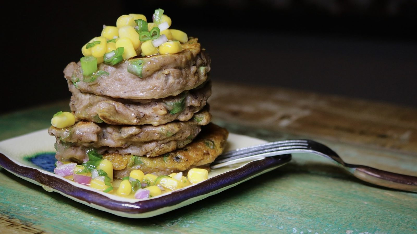 Black-Eyed Pea Fritters with Corn Salsa 3