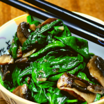 Garlicky Sautéed Spinach with Mushrooms 4