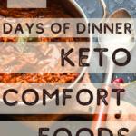 Keto Comfort Foods Menu Plan 5