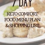 Keto Comfort Foods Menu Plan 7