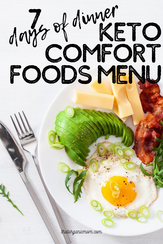 Keto Comfort Foods Menu Plan 8