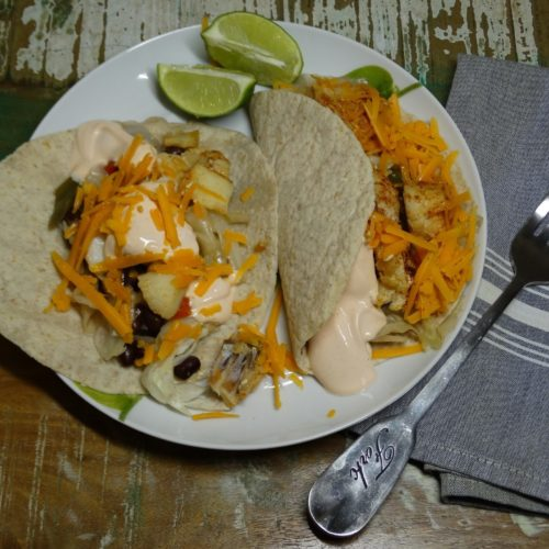 Low-Carb Blackened Fiery Fish Fajitas 2