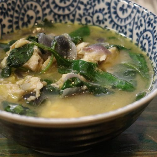 Thai Green Curry Coconut Fish Soup 1