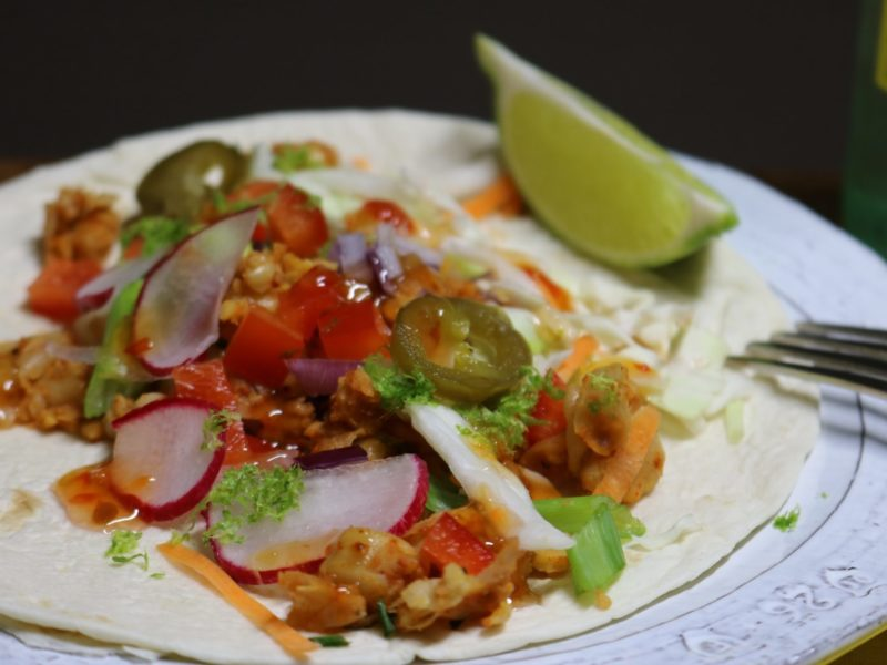 Chickpea Tacos with Sweet Chili Sauce and Lime Zest  1