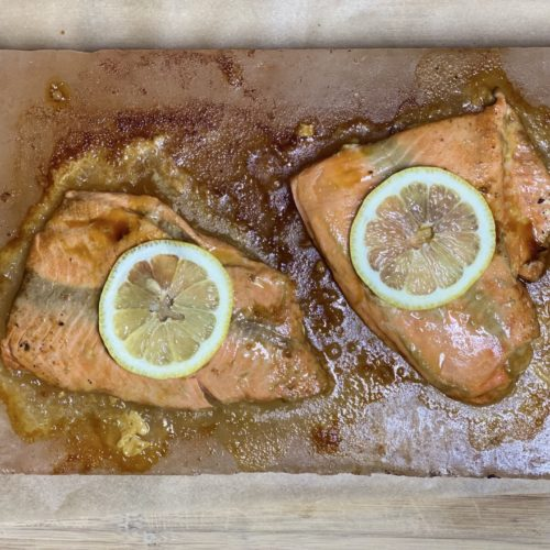 Himalayan Salt Block Salmon Recipe - Low Carb, Keto, THM Friendly